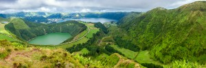 Lakes of Sete Cidades and Santiagot in Sao Miguel Azores ** Note: Soft Focus at 100%, best at smaller sizes